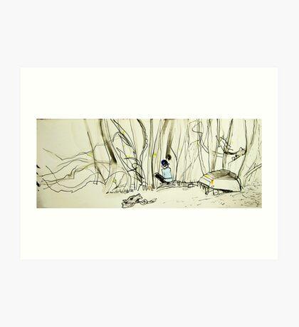 drawing amongst the mangroves Art Print