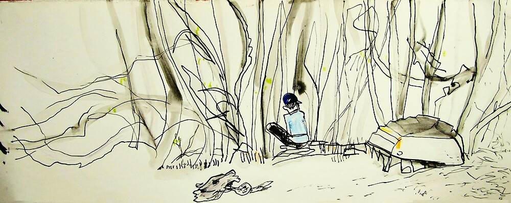 drawing amongst the mangroves by donna malone
