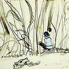 drawing amongst the mangroves by donnamalone