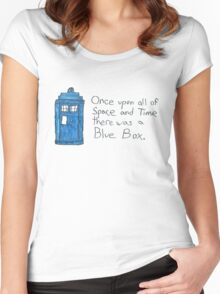 Once upon all of space and time... Women's Fitted Scoop T-Shirt