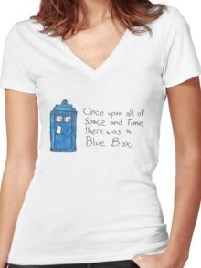 Once upon all of space and time... Women's Fitted V-Neck T-Shirt