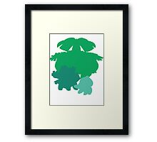 Bulbasaur Evolution Framed Print