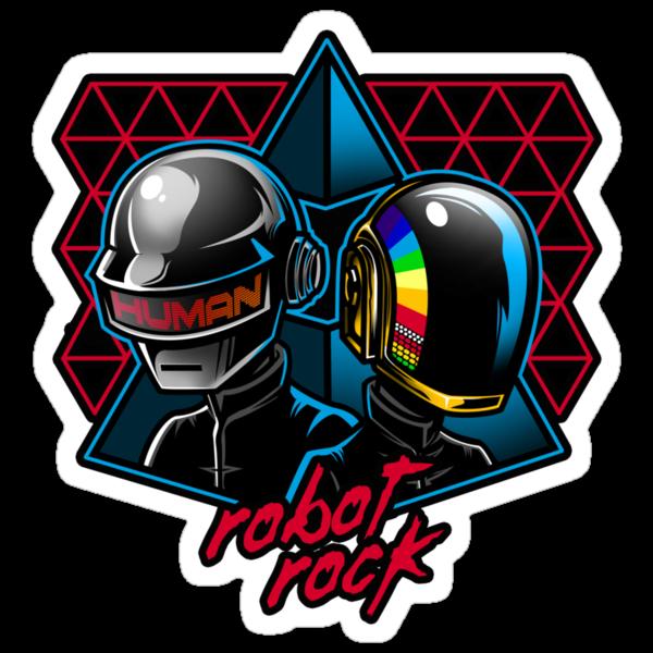 Robot Rock Sticker by Bamboota