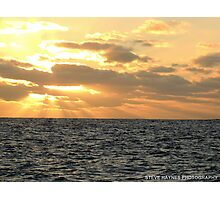 Blue water, red sky. Photographic Print
