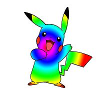 Rainbow Pikachu Photographic Print