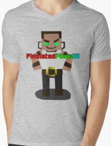 Mr. Pixel Mens V-Neck T-Shirt