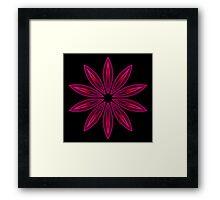 Flame Deep Pink Flower Kaleidoscope 003 2013 Framed Print