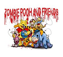 Zombie Pooh and Friends Photographic Print