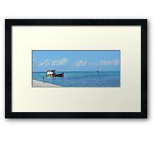 Sunken Tug Framed Print