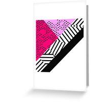 Girly Modern Pink, Black, & White Geometrical  Greeting Card