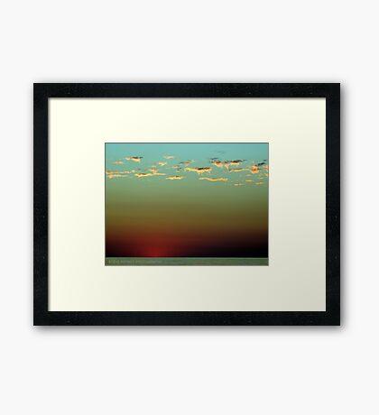 Night Time. Framed Print