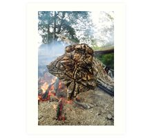 Fired Willow, Meander River, Tasmania Art Print