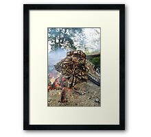 Fired Willow, Meander River, Tasmania Framed Print