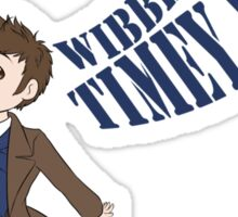 Timey Wimey 10th Doctor Sticker