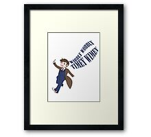 Timey Wimey 10th Doctor Framed Print