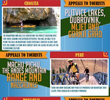 Infography : World's Top 10 Adventure Places by LuizzeOliveira