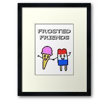 Frosted Friends Framed Print