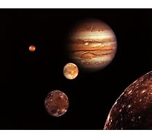 Jupiter & Moons Photographic Print