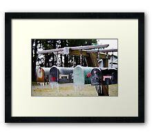 Frozen Mail... Framed Print