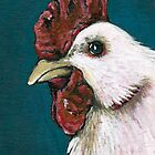 White Chicken #1 by Lisa Marie Robinson