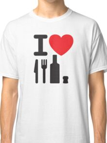 I love NY - a knife, a fork, a bottle and a cork that's the way you spell New York Classic T-Shirt