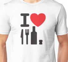 I love NY - a knife, a fork, a bottle and a cork that's the way you spell New York Unisex T-Shirt
