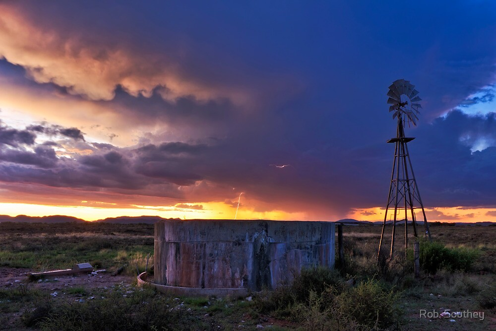Karoo Sunset strike by Rob  Southey
