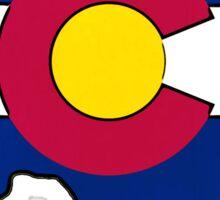 Texas Colorado flag vibrant bright edges Sticker