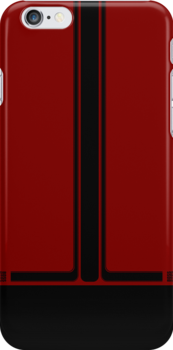 Ford Mustang Boss 302 styled Iphone-Case [Deep Red] by Norbert Karpen