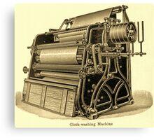 Cloth Washing Machine Canvas Print