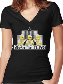 Beastie Toys Women's Fitted V-Neck T-Shirt