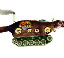 Steampunk Platypus Tank by Tickleart