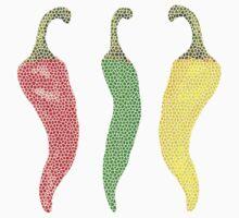 Hot Peppers by Miraart