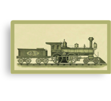 Steam Engine Illustration Canvas Print