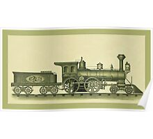 Steam Engine Illustration Poster