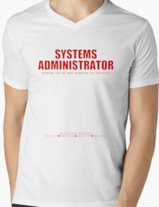 Systems Administrator (Red) - SysAdmin Day Mens V-Neck T-Shirt