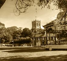 Christchurch Priory and Village Green by Chris Day
