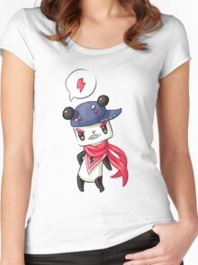 Panda 4 Women's Fitted Scoop T-Shirt