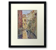 Streets and canals of Venice Framed Print