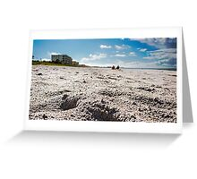 Getting Down on the Beach Greeting Card