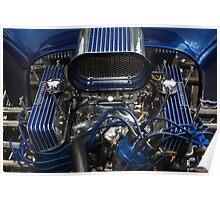 Hotrod Engine Poster