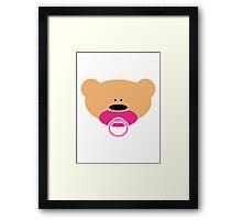 Teddy bear baby girl Framed Print