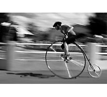 Penny Farthing race blur Photographic Print