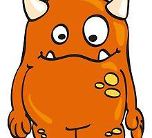 Cool orange Monster by chrisbears