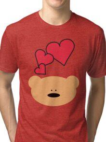 Teddy bear heart Tri-blend T-Shirt