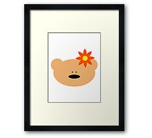 Teddy bear flower Framed Print