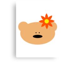 Teddy bear flower Canvas Print