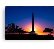 Dawn at San Jacinto Monument Canvas Print