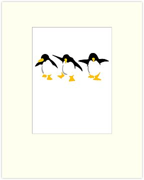 Three dancing Penguins by chrisbears