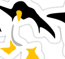 Three dancing Penguins Sticker